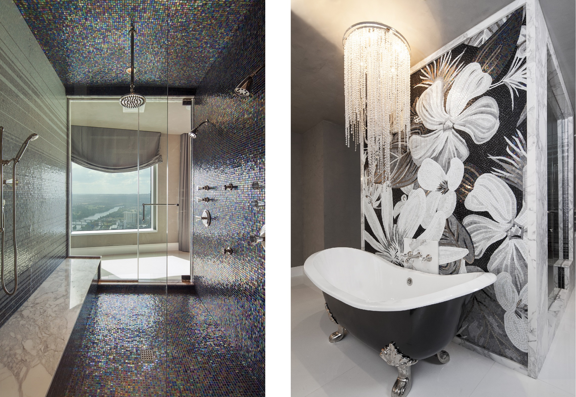 Glamour Was The Main Request From Client And This Achieved By Use Of Stark Contrasts Black White Throughout Suite
